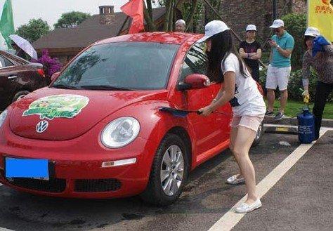 百事达汽车举行绿色环保・一桶水洗车