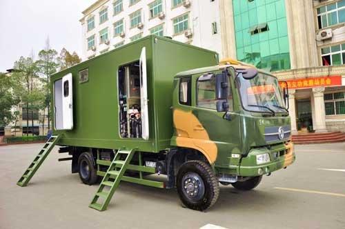 东风专汽推出国内首款东风多功能淋浴车
