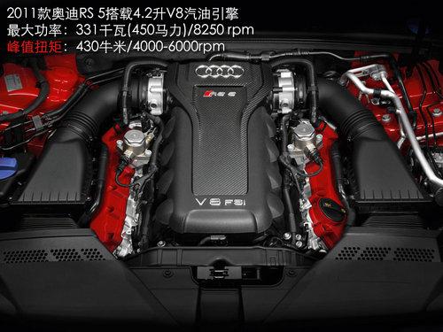 奥迪RS5敞篷版谍照 搭V8引擎-7速变速箱