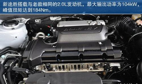 0l发动机,最大功率104千瓦,最大扭矩184牛米,与老款车型相比,没有任何