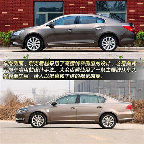 王牌车型之间的对决 新君越pk新迈腾高清图片