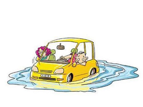 秋季降雨多 汽车涉水-如何让损失降最小