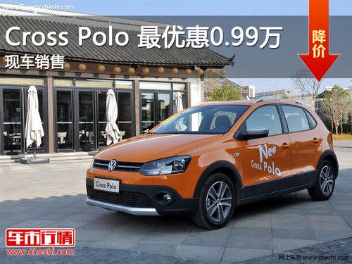 滨州Cross Polo 最优惠0.99万 现车销售