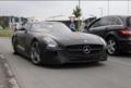 奔驰SLS黑色系列谍照 搭高性能6.3L引擎