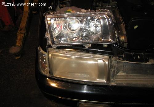 桑塔纳2000改装天使眼大灯过程分享