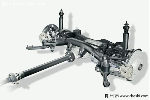 2:宝马3系后悬架采用的五连杆设计是多连杆结构的极致,五连杆式