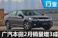 广汽本田2月销量增34.4% 轿车占比超6成