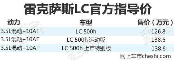 雷克萨斯全新LS/LC上市88.8万起售/搭混动系统-图4