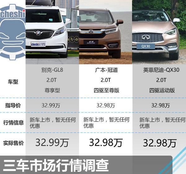 32.98万同价你选谁 GL8/本田冠道/QX30-图2