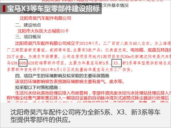 """宝马X3国产-配件工厂动工 新外观超""""狂野""""-图1"""