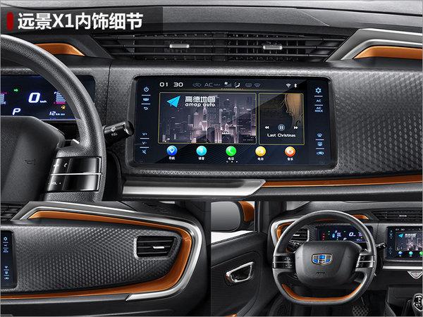吉利全新SUV-远景X1首发 内饰超级惊艳-图3