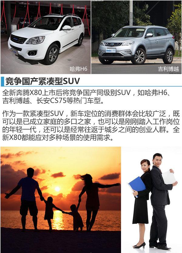 奔腾新款SUV-X80正式上市 售XXX万元起-图1