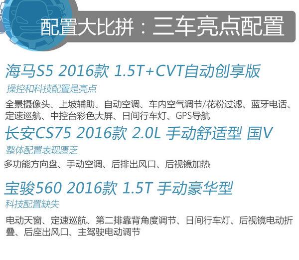 海马S5/长安CS75/宝骏560 同级车型你买谁-图11