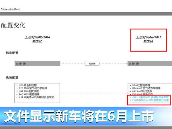 奔驰AMG A45将于六月上市 鸿运国际/配置大调整!-图3