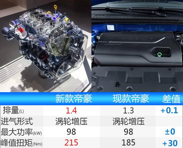 吉利新帝豪酷似宝马3系 搭1.4T-动力大幅提升-图4