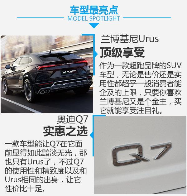 奥迪Q7对比兰博基尼Urus 共享平台-轴距相同-图5