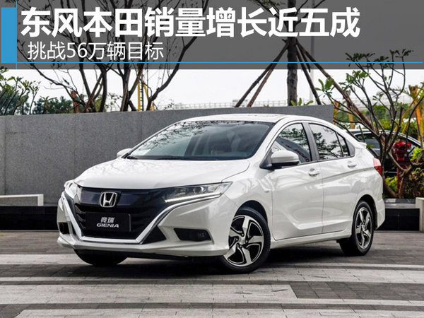 东风本田销量增长近五成 挑战56万辆目标-图1