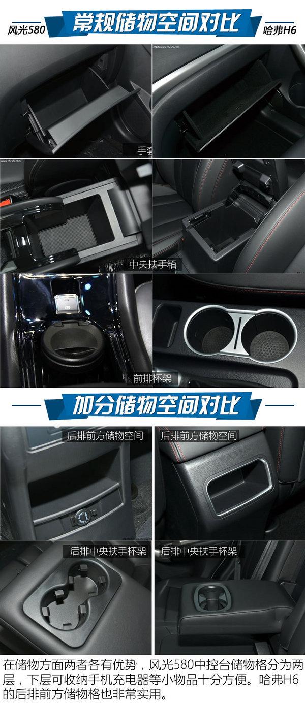 10万级自动挡SUV怎么选 风光580对比H6-图15