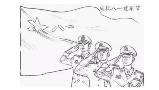 军人帅气手绘图