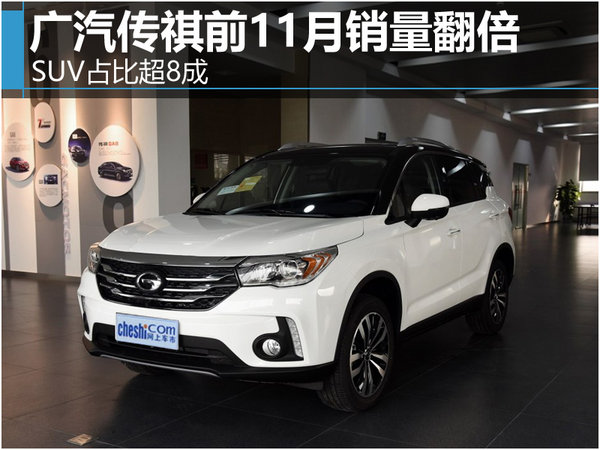 广汽传祺前11月销量翻倍 SUV占比超8成-图1