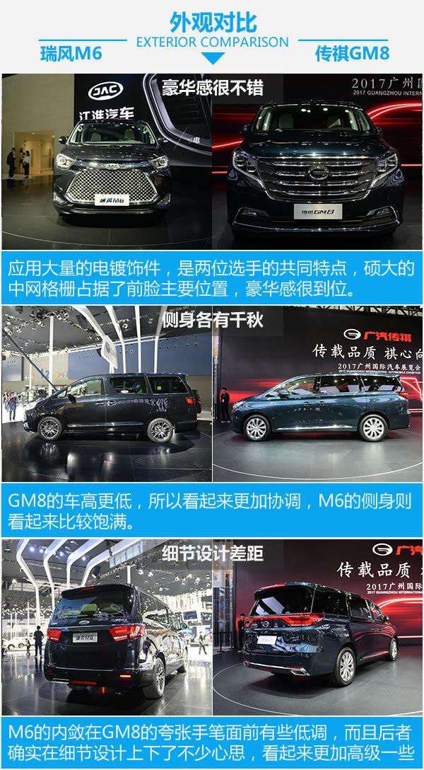 MPV新车硬碰硬 江淮瑞风M6对比广汽传祺GM8-图4