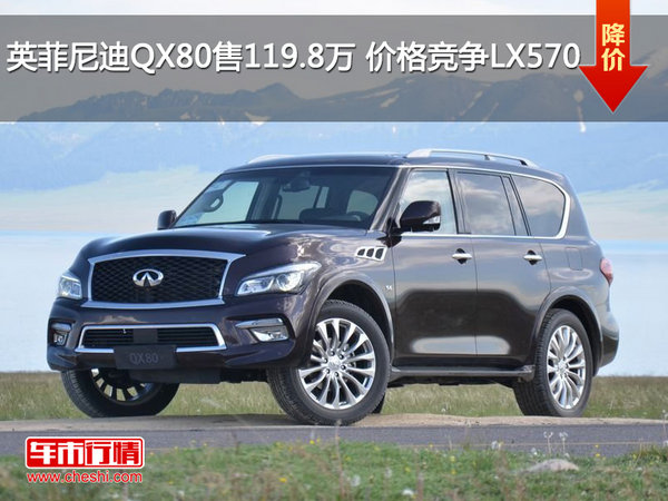 英菲尼迪QX80售119.8万 价格竞争LX570-图1