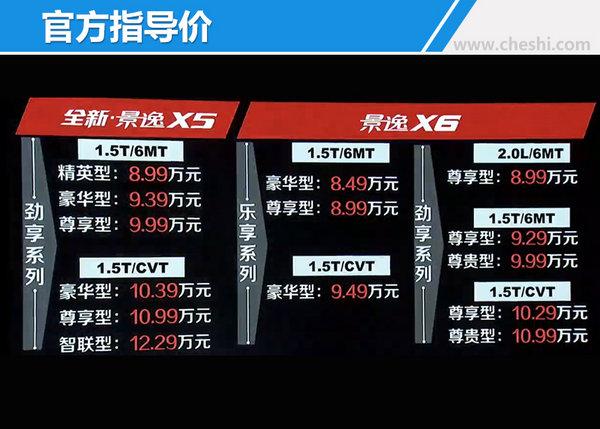 东风风行全新景逸X5 1.5T/X6上市 8.49万起售-图1