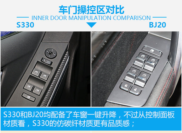 """要个性 不要""""撞脸"""" 驭胜S330对比北汽BJ20-图4"""