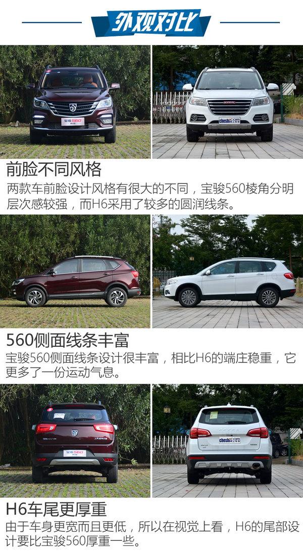 谁是最牛家用SUV 宝骏560律动版对比H6-图4