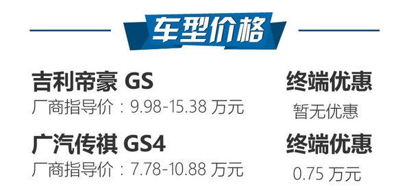 """以小""""搏""""大 吉利帝豪GS对比广汽传祺GS4-图2"""