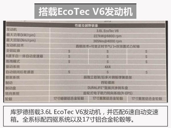 雪佛兰库罗德配置曝光 搭3.6L/40万起售-图1