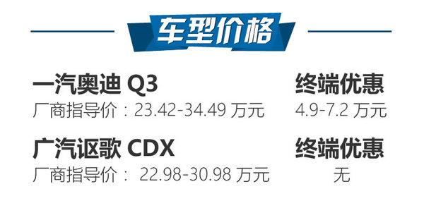 要个性还是要鸿运国际 奥迪Q3对比讴歌CDX-图2