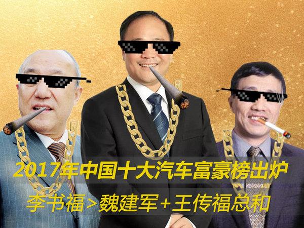中国汽车界10大富豪 李书福>魏建军+王传福总和-图1
