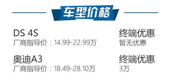 法德豪华A级车对决 DS 4S对比奥迪A3-图2