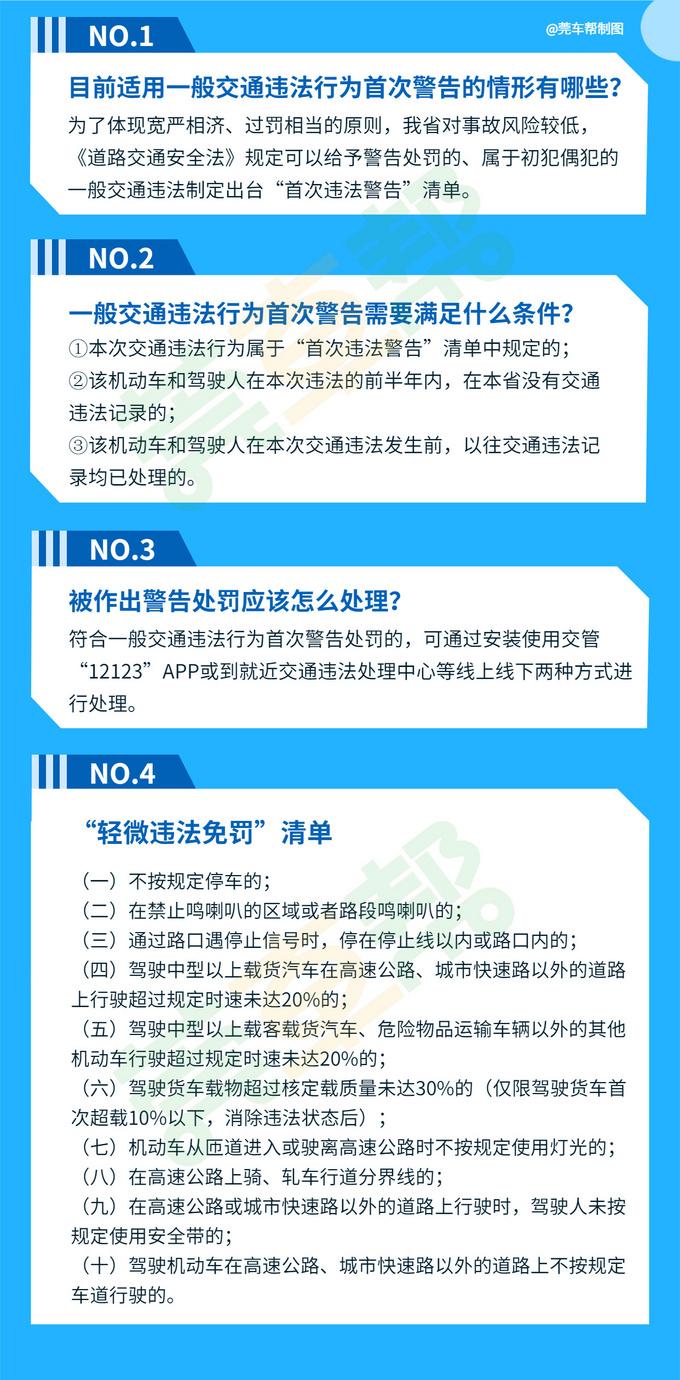 广东轻微交通违法免罚,首违警告,需满足什么条件-图3