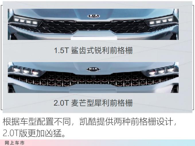 起亚全新K5凯酷实车曝光 前脸设计调整 10天后预售-图6