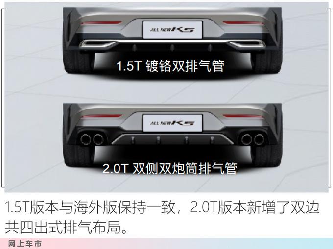 起亚全新K5凯酷实车曝光 换1.5T发动机油耗更低-图1