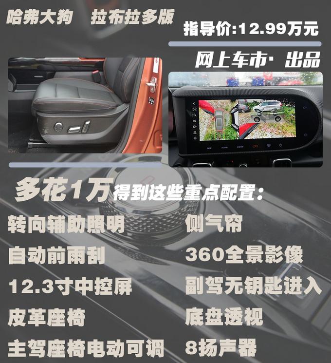 哈弗硬派SUV大狗上市11.99-14.29万 4款配置怎么选-图6