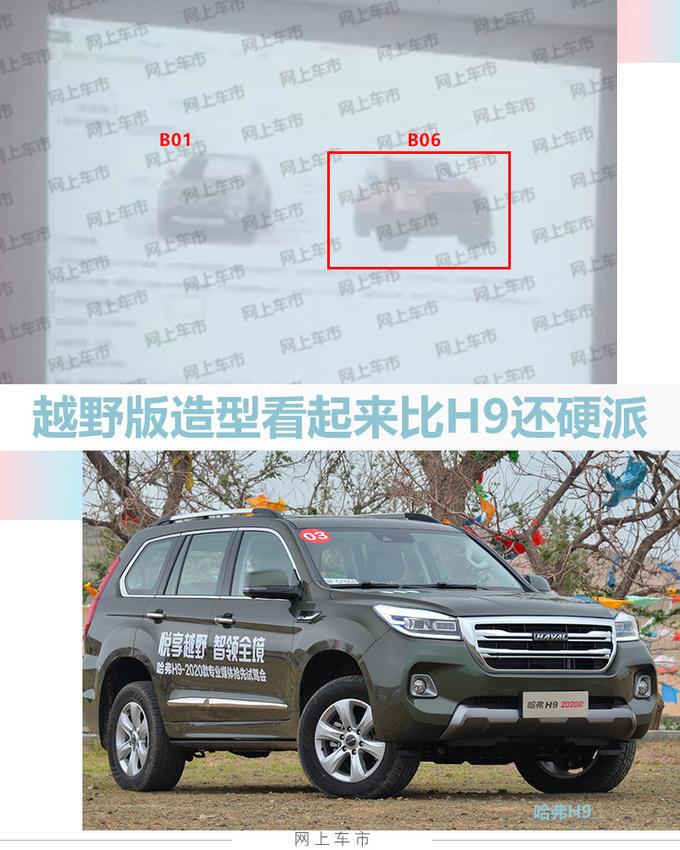 哈弗新一代H6越野版曝光  竞争Jeep指南者-图2