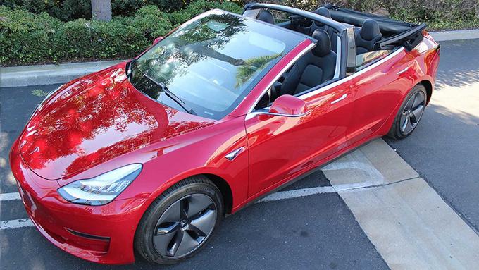 敞篷版Model 3怎么样改装费用高达4万欧元-图1