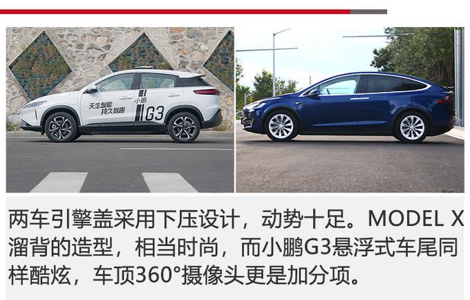 小鹏G3对比Model X更低的价格 更高的性价比-图3
