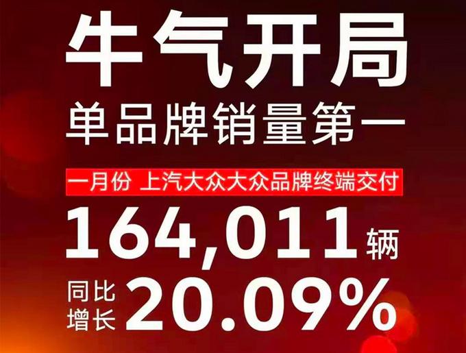 上汽大众1月销量增20.09-图4