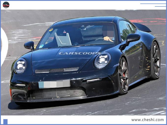 保时捷全新911谍照曝光换新4.0L引擎/pk奔驰GT-图2