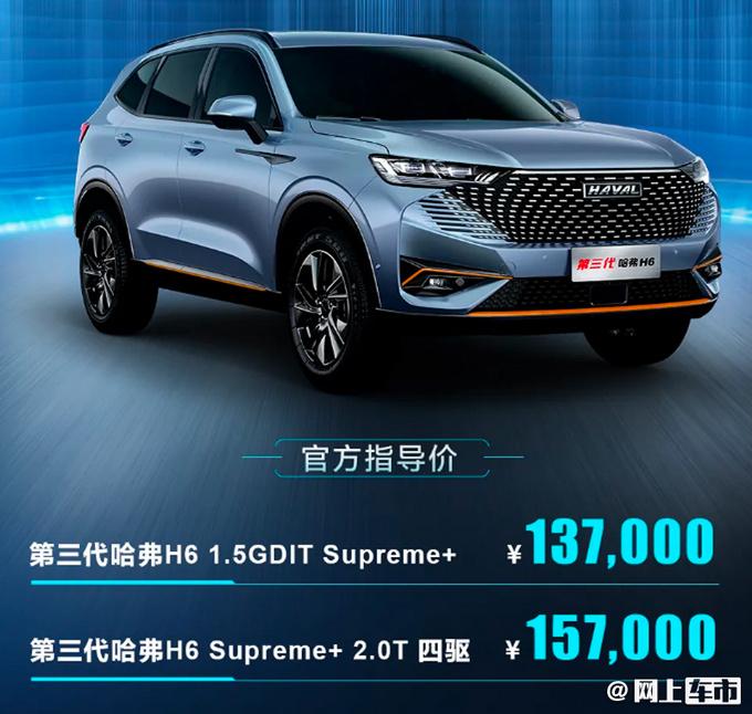 多花2千买高配哈弗H6 Supreme+车型13.7万起售-图2
