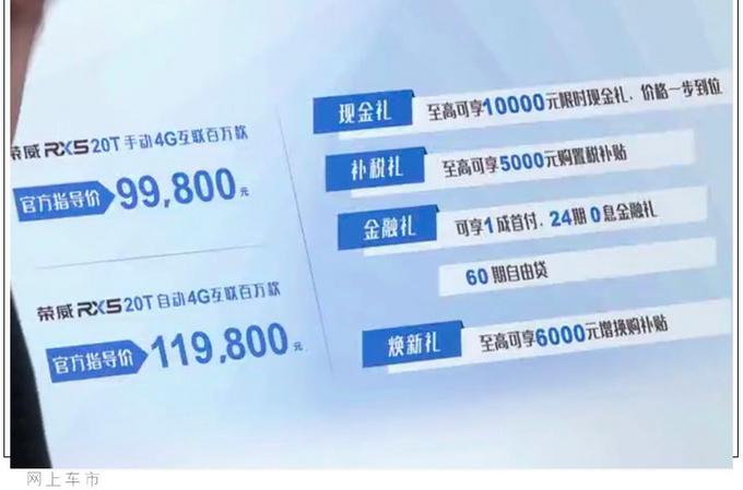 荣威RX5新车型上市 配置大幅升级9.98万元起售-图4