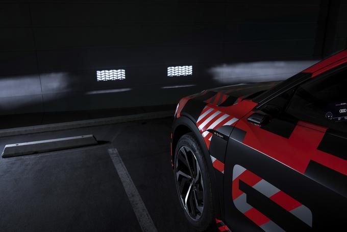 奥迪e-tron科技配置提升智能矩阵大灯可播放动画-图2