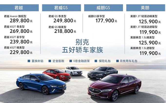 五福临门别克5款轿车同步上市 11.99万元起售-图1