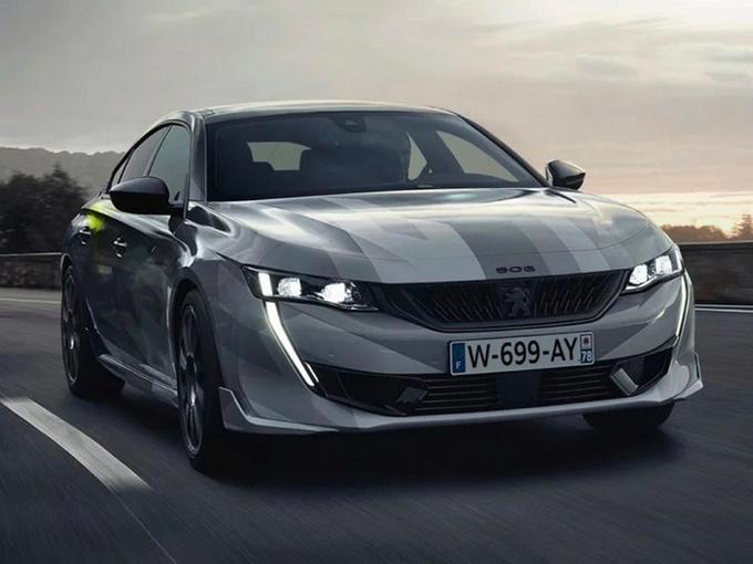 标致508新车型实拍曝光年内开售/搭1.6T动力大涨