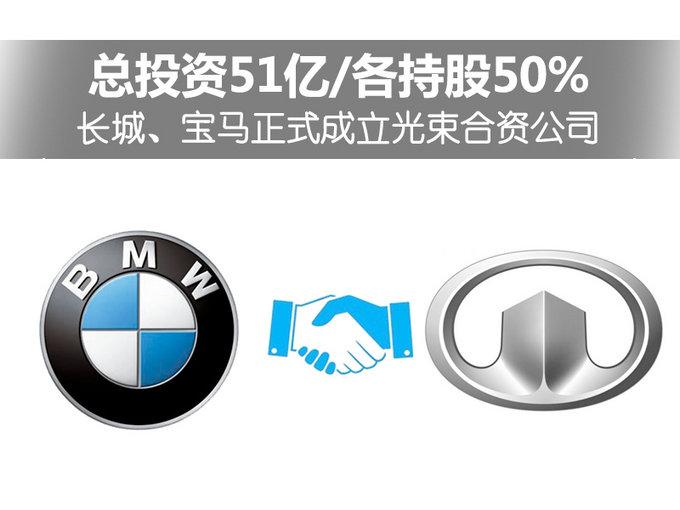 长城,宝马正式成立光束合资公司 各持股50%