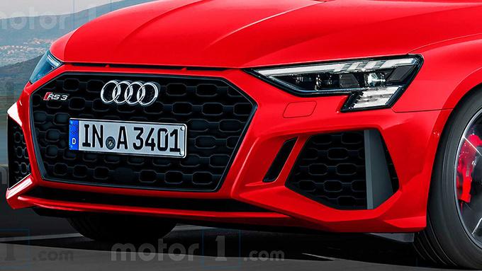全新奥迪RS 3效果图曝光 竞争对手直指奔驰A45-图2